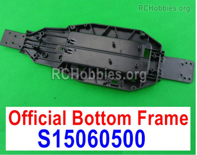 Subotech BG1525 Chassis Parts, Bottom frame for the BG1525 Car. S15060500. Plastic material.